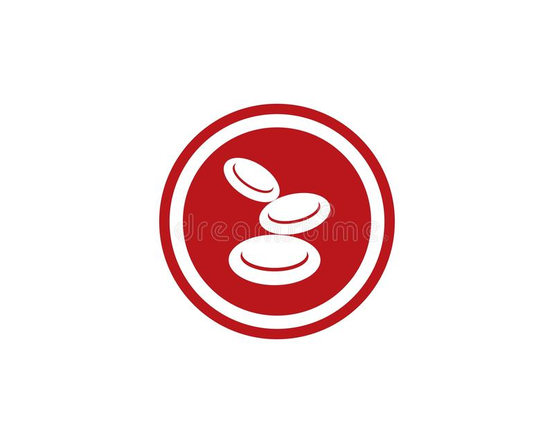 Symbol för blodlogovektor stock illustrationer