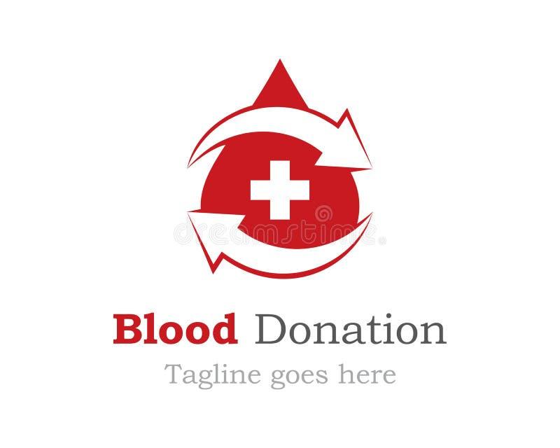 Symbol för blodlogovektor royaltyfri illustrationer