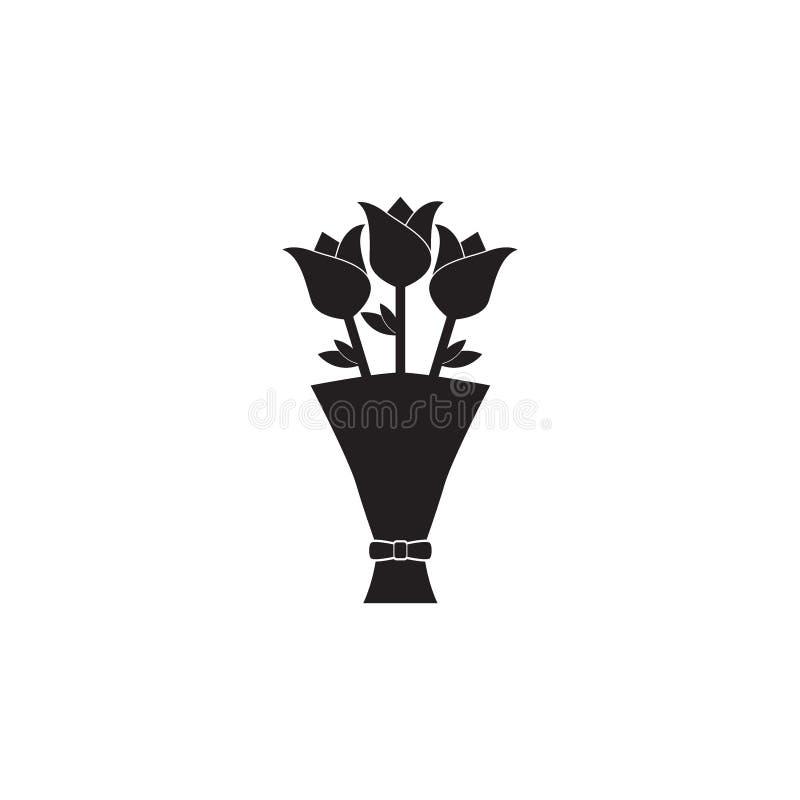 Symbol för blommabukettvektor arkivbilder