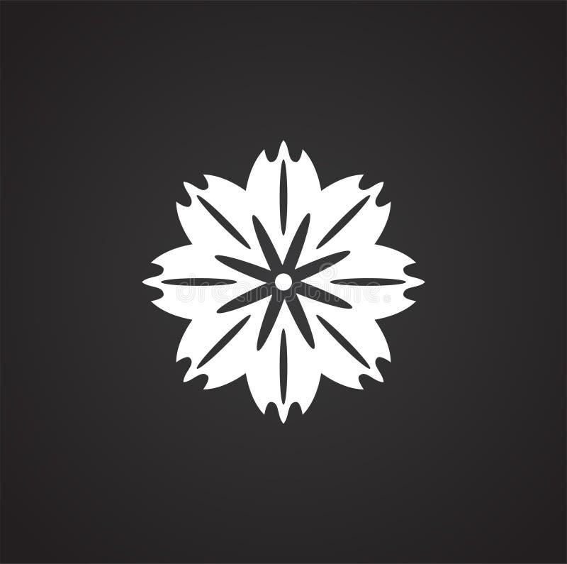 Symbol för blommamodell på bakgrund för diagram och rengöringsdukdesign enkel terminal f?r flygplanillustration Internetbegreppss royaltyfri illustrationer