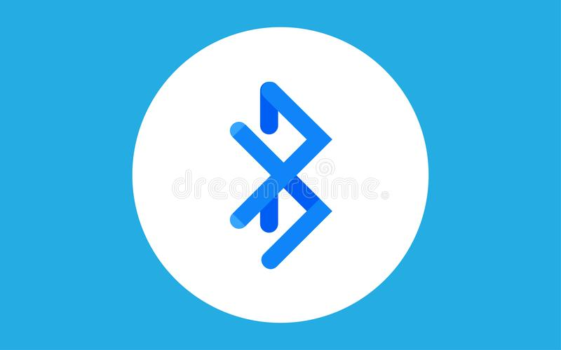Symbol för Bluetooth symbolstecken stock illustrationer