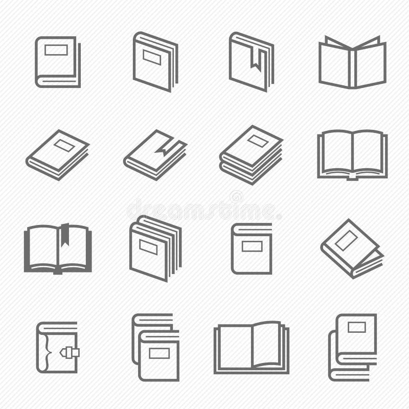 Symbol för boköversiktsslaglängd royaltyfri illustrationer