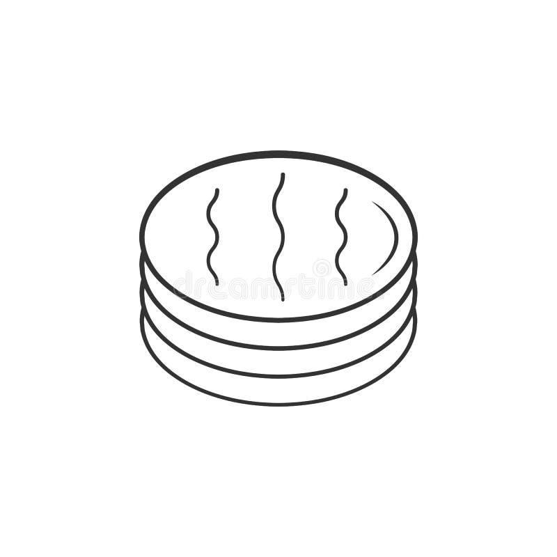 Symbol för bomullsmakeupborttagningsmedel Beståndsdel av kvinnamakeupsymbolen för mobila begrepps- och rengöringsdukapps Den spec vektor illustrationer