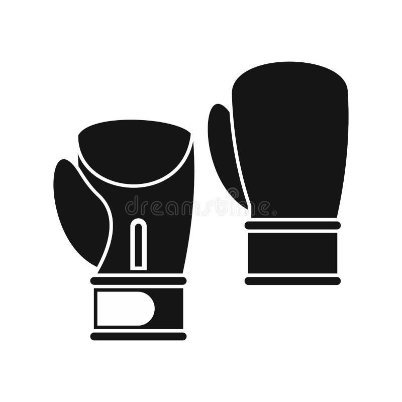 Symbol för boxninghandskar, enkel stil vektor illustrationer