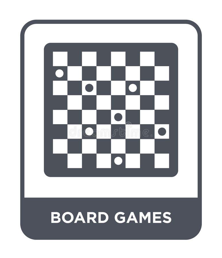 symbol för brädelekar i moderiktig designstil symbol för brädelekar som isoleras på vit bakgrund modern symbol för vektor för brä royaltyfri illustrationer