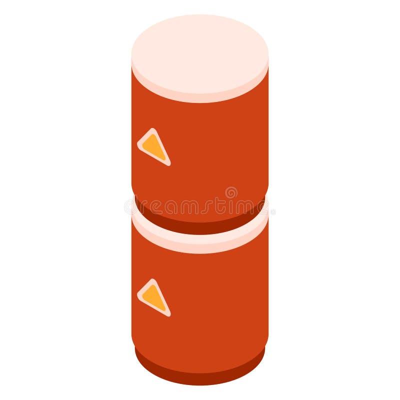 Symbol för bränslebensinballong, isometrisk stil vektor illustrationer