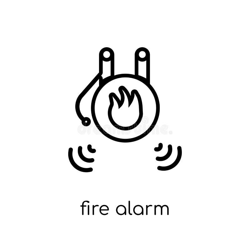 Symbol för brandlarm Moderiktig modern plan linjär ico för vektorbrandlarm vektor illustrationer