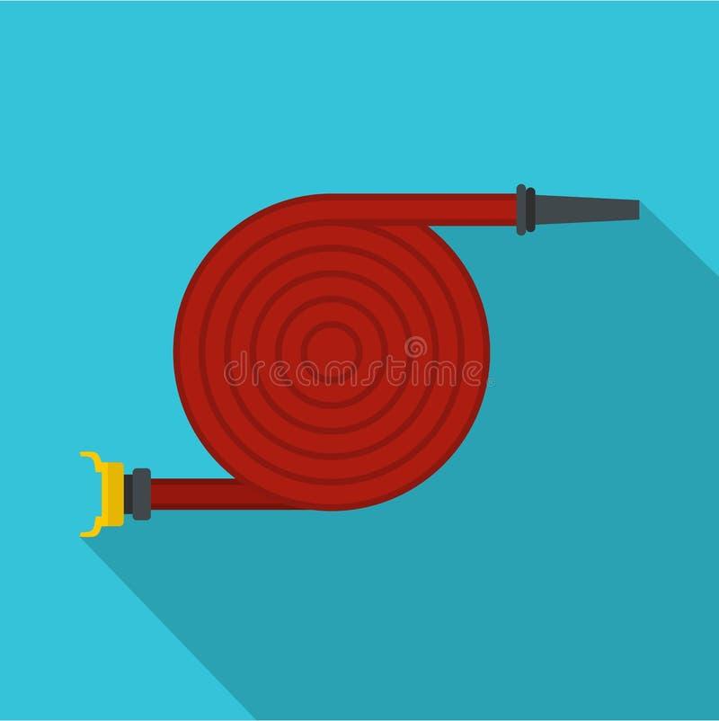 Symbol för brandslang, lägenhetstil stock illustrationer