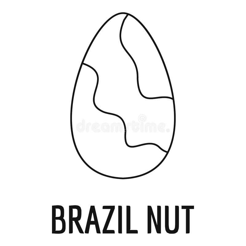Symbol för Brasilien mutter, översiktsstil royaltyfri illustrationer
