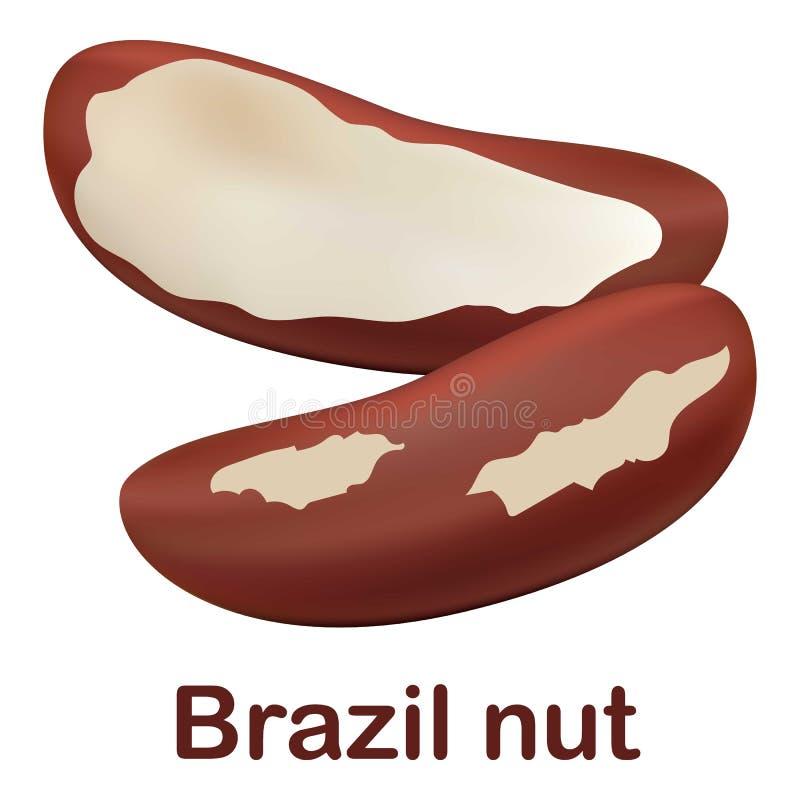 Symbol för Brasilien mutter, realistisk stil vektor illustrationer