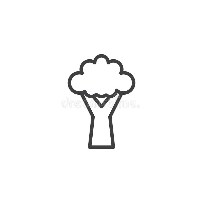 Symbol för broccoligrönsaköversikt stock illustrationer