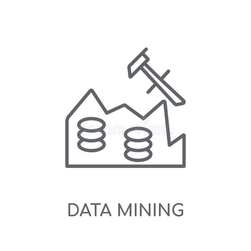 Symbol för bryta för data linjär Modernt begrepp för logo för bryta för översiktsdata royaltyfri illustrationer