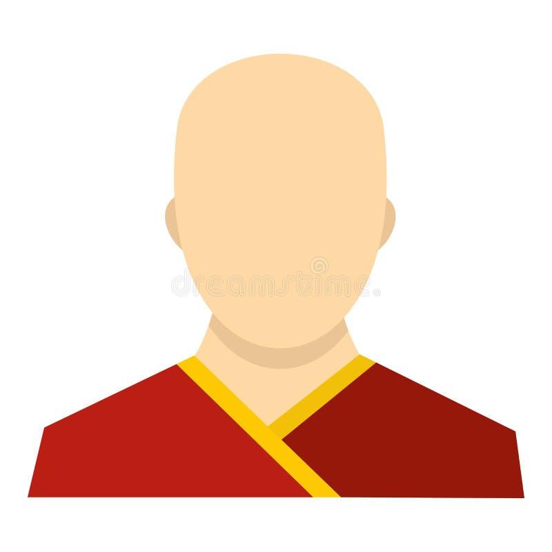 Symbol för buddistisk munk, lägenhetstil royaltyfri illustrationer