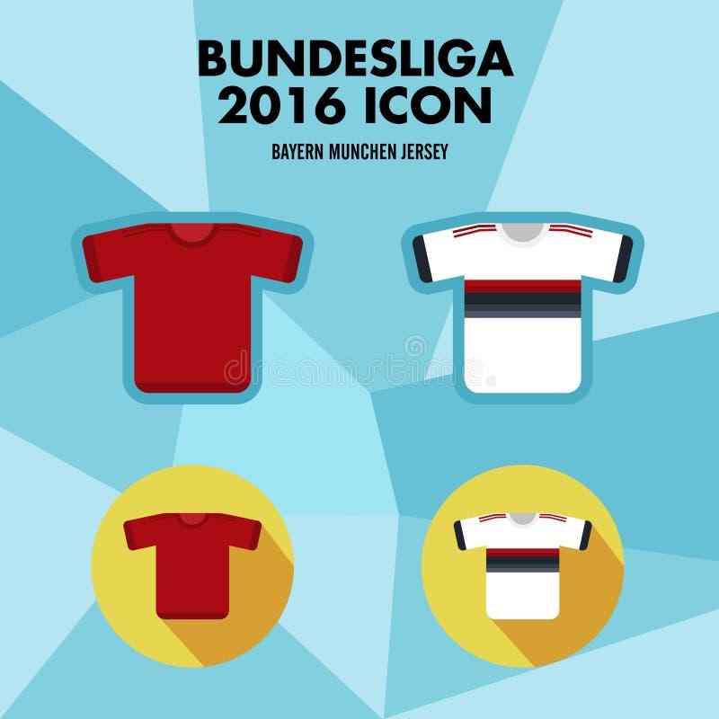 Symbol för Bundesliga fotbollklubba stock illustrationer