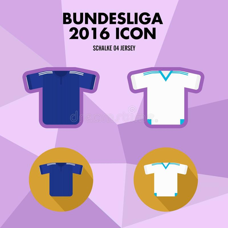Symbol för Bundesliga fotbollklubba royaltyfri illustrationer