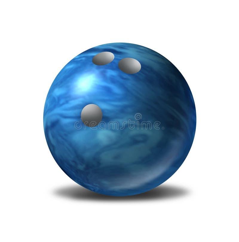 symbol för bunke för boll blå isolerat enkelt bowling stock illustrationer