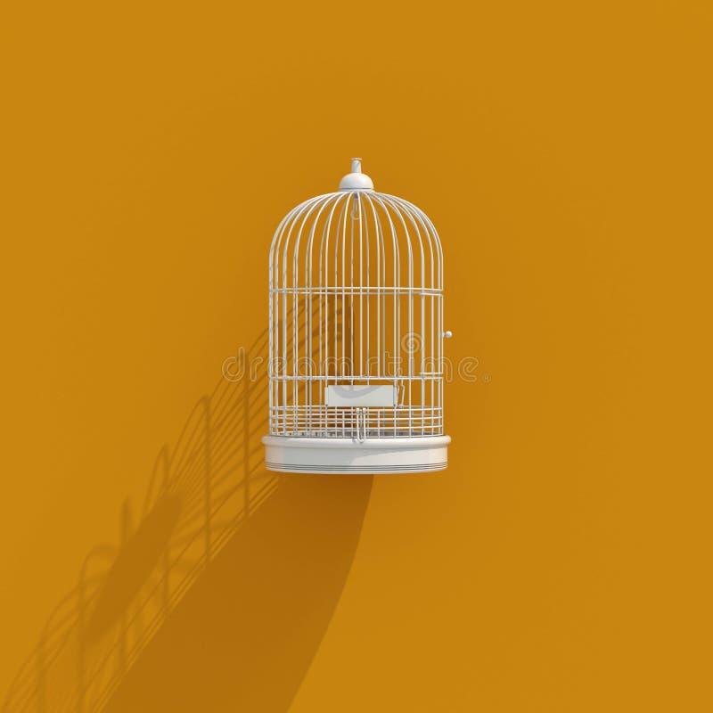 symbol för bur för fågel 3d stock illustrationer