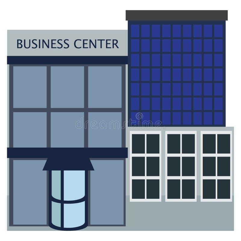 Symbol för byggnad för affärsmitt, vektorillustration royaltyfri illustrationer