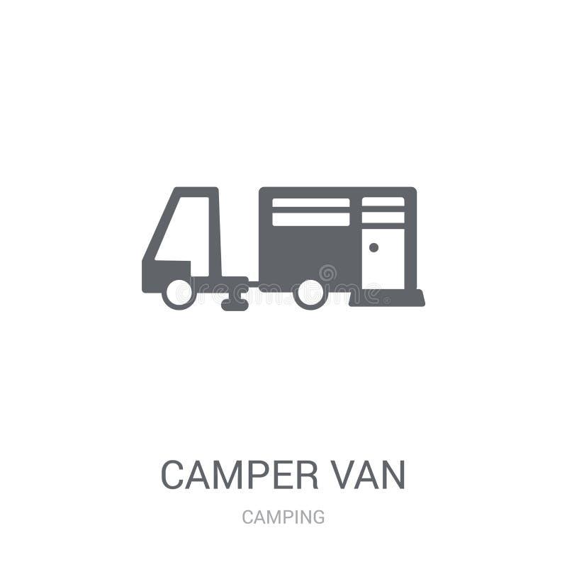 Symbol för campareskåpbil  vektor illustrationer