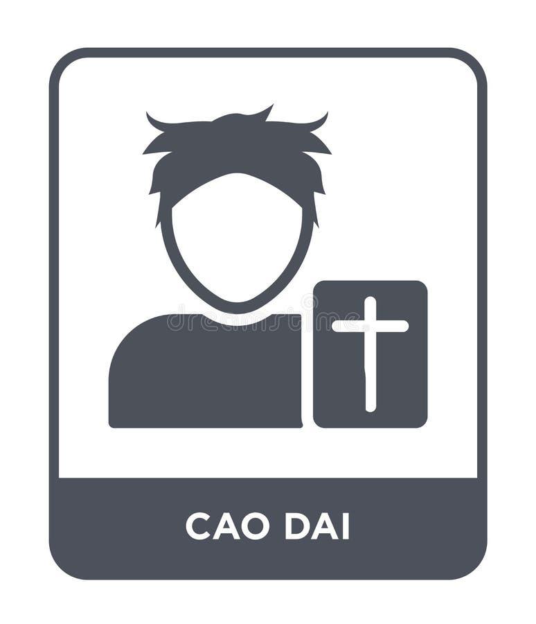 symbol för cao dai i moderiktig designstil symbol för cao som dai isoleras på vit bakgrund för vektorsymbol för cao dai enkelt oc stock illustrationer
