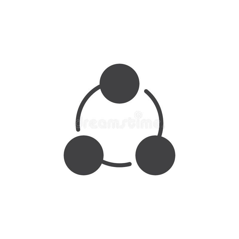 Symbol för cirkeldiagramvektor royaltyfri illustrationer