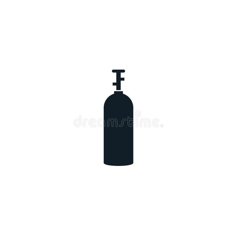 Symbol för CO2gasbehållare vektor illustrationer