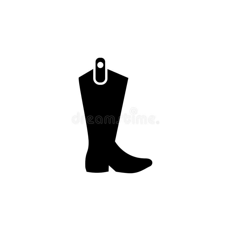 symbol för cowboykängor på vit bakgrund Bekläda eller kläder eller mode för illustration för vektor för mankvinnasymbol royaltyfri illustrationer