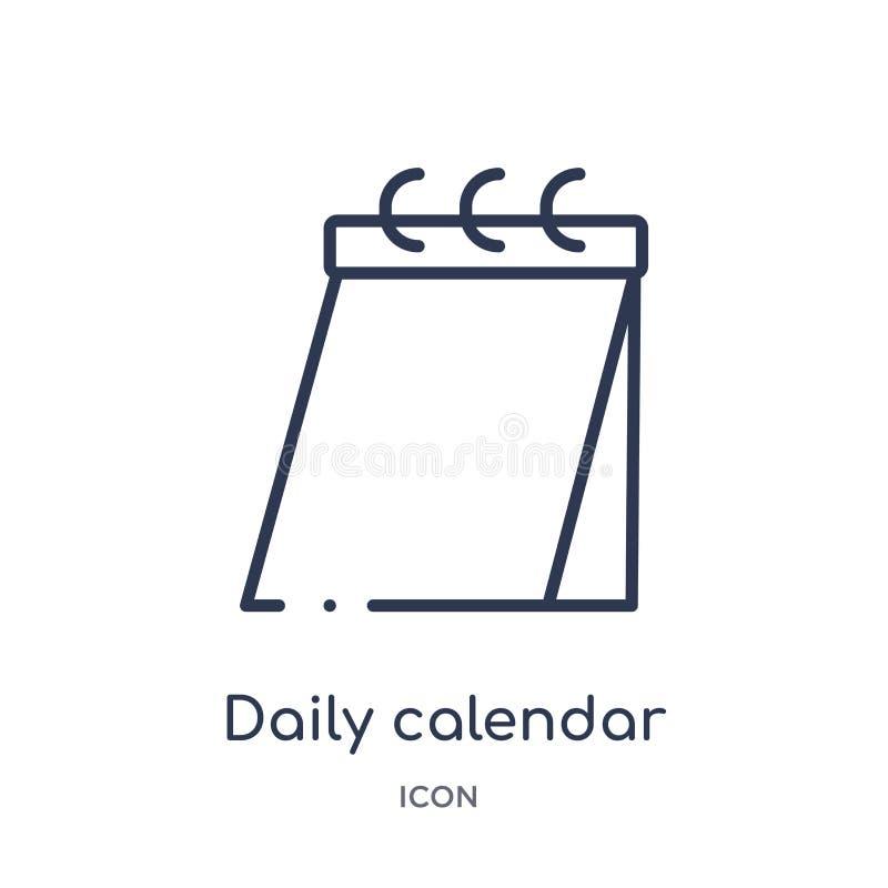 symbol för dag för daglig kalender 14 från användargränssnittöversiktssamling Tunn linje symbol för dag för daglig kalender som 1 royaltyfri illustrationer
