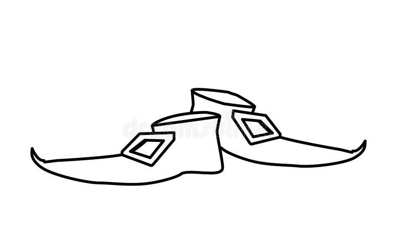 Symbol för dag för patricks för Lemprechaun choeshelgon royaltyfri illustrationer