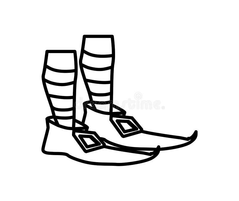 Symbol för dag för patricks för Lemprechaun choeshelgon stock illustrationer