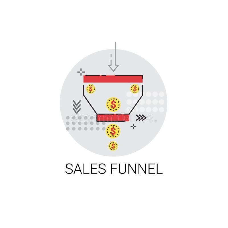 Symbol för data för finans för begrepp för försäljningstrattanalys vektor illustrationer
