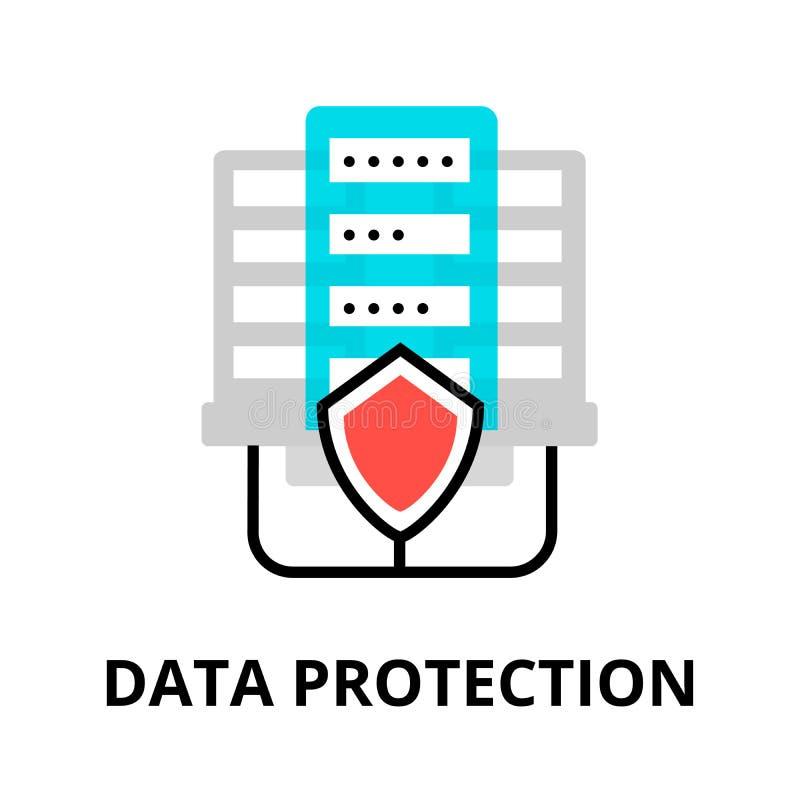 Symbol för dataskydd vektor illustrationer