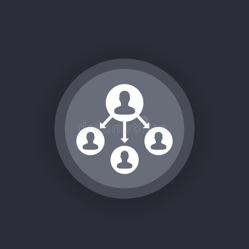 Symbol för delegationvektorrunda royaltyfri illustrationer
