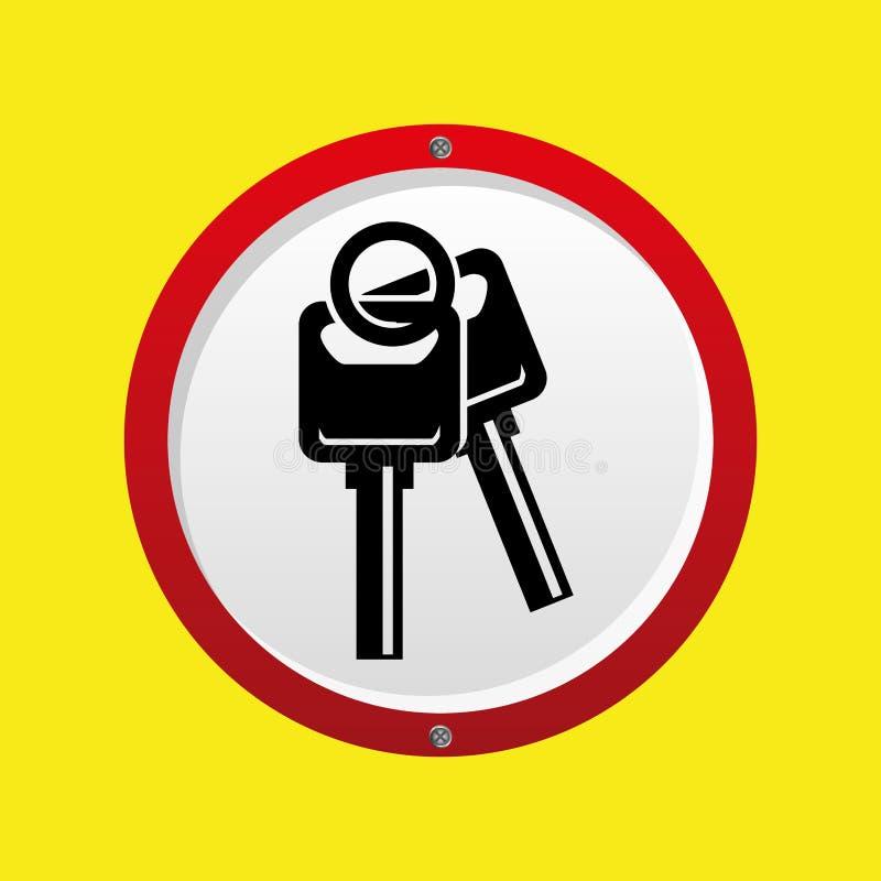 Symbol för design för försäkringbiltangenter stock illustrationer