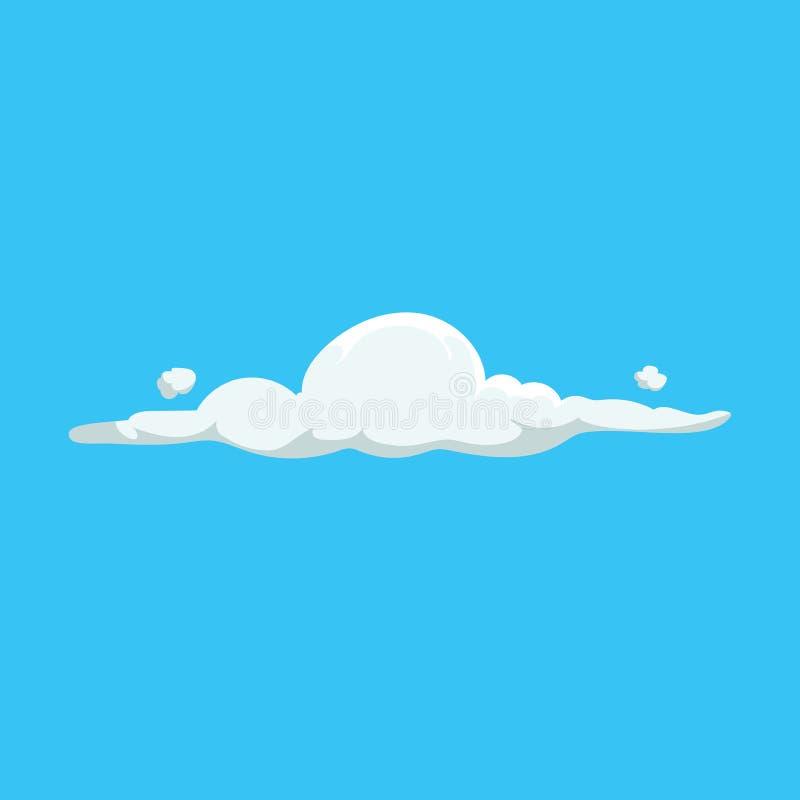 Symbol för design för gulligt moln för tecknad film moderiktig Vektorillustration av väder- eller himmelbakgrund vektor illustrationer