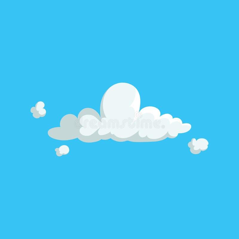 Symbol för design för gulligt moln för tecknad film moderiktig Vektorillustration av väder- eller himmelbakgrund stock illustrationer