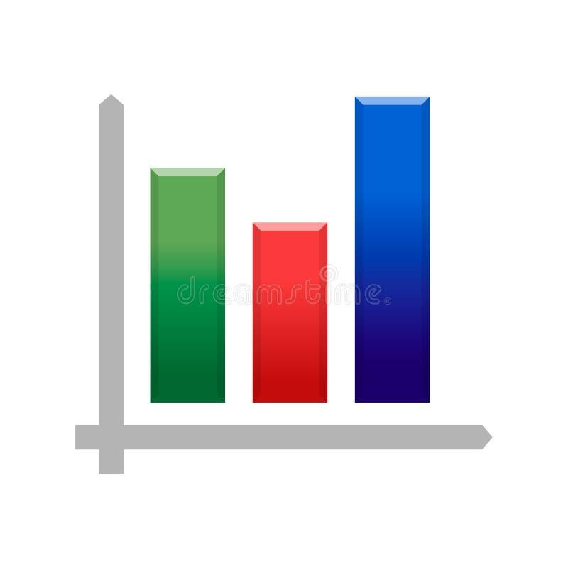 Symbol för diagram Bitcoin för crypto valuta växande, blockchaindiagramsymbol Bitcoin kurs, vektorillustration vektor illustrationer