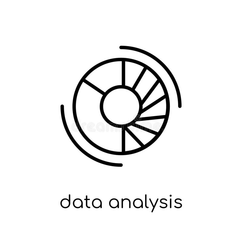 Symbol för diagram för paj för dataanalys  vektor illustrationer