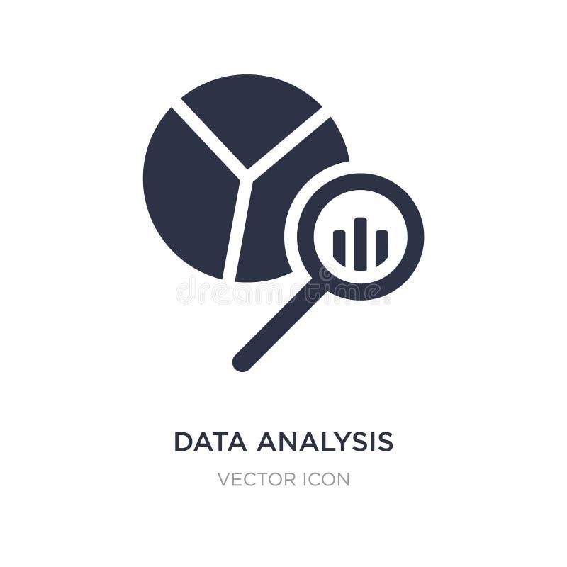 symbol för diagram för paj för dataanalys på vit bakgrund Enkel beståndsdelillustration från affärs- och analyticsbegrepp royaltyfri illustrationer