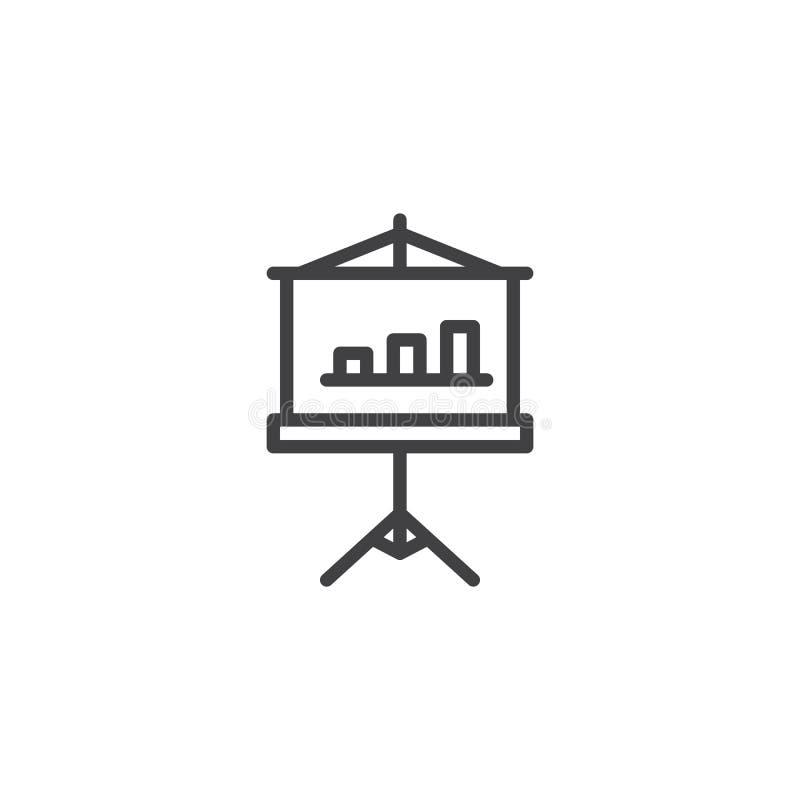 Symbol för diagrambrädeöversikt stock illustrationer