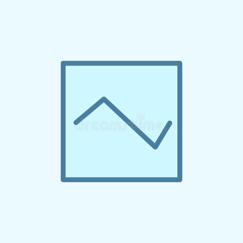 symbol för diagramfältöversikt Beståndsdel av den enkla symbolen för 2 färg Tunn linje symbol för websitedesignen och utveckling, royaltyfri illustrationer