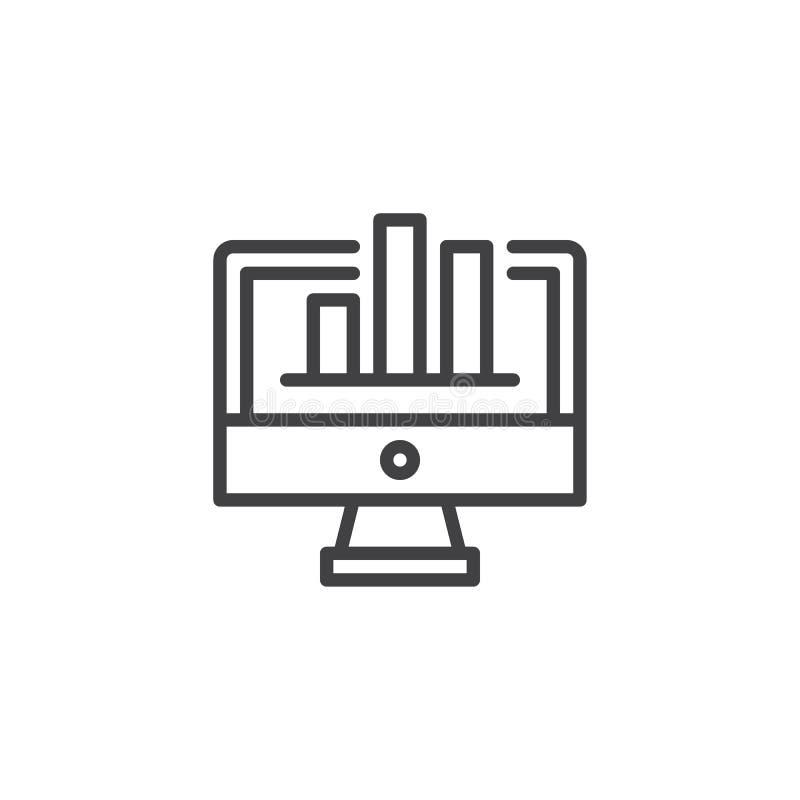 Symbol för diagramskärmöversikt royaltyfri illustrationer