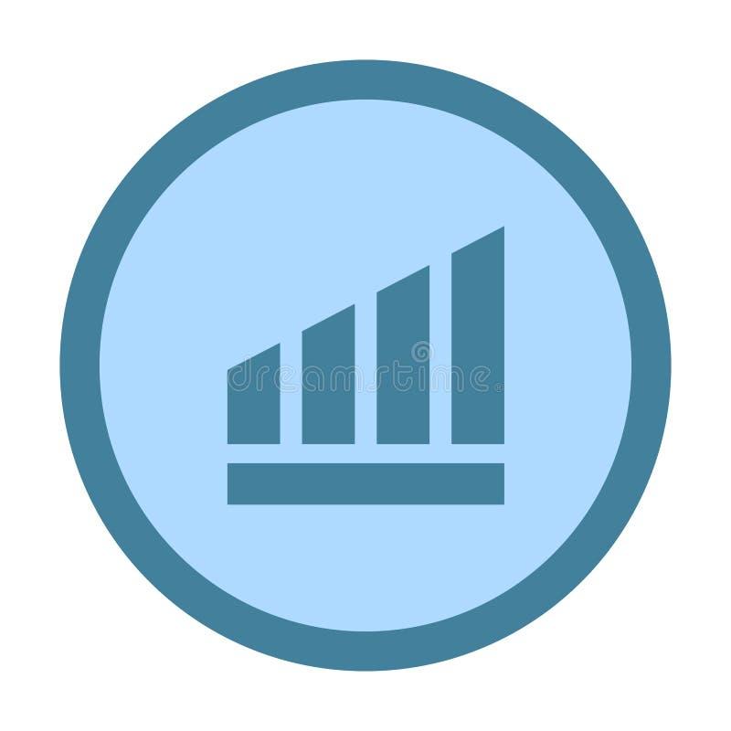 symbol för diagramtrendcirkel stock illustrationer