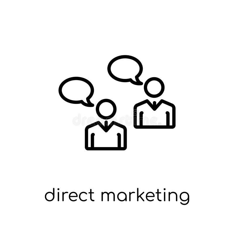 Symbol för direkt marknadsföring Moderiktig modern plan linjär vektor direkt M stock illustrationer