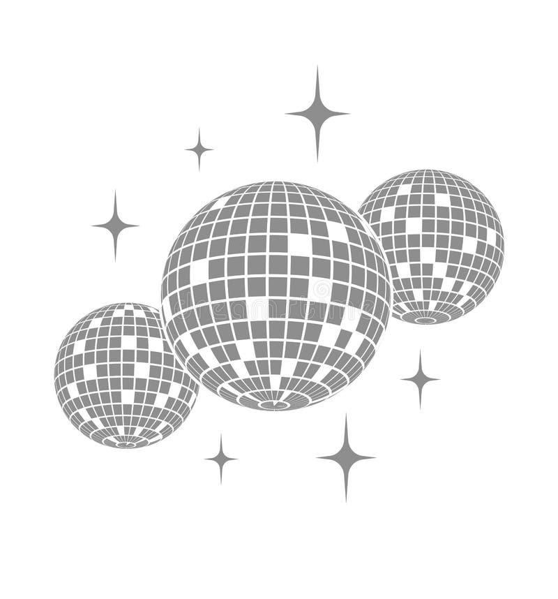 Symbol för diskobollvektor royaltyfri illustrationer
