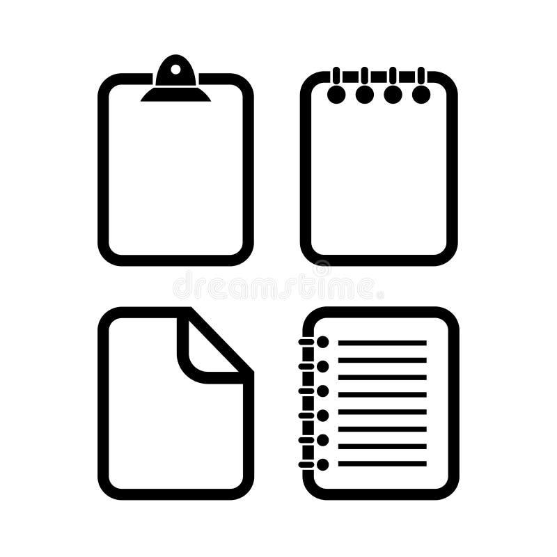 Symbol för dokumentöversiktsvektor vektor illustrationer