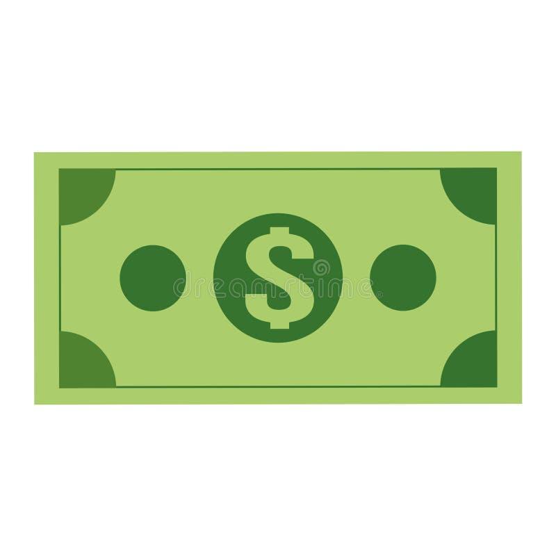 symbol för dollarräkning royaltyfri illustrationer
