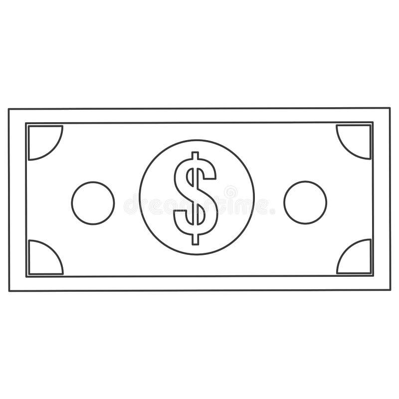 symbol för dollarräkning vektor illustrationer