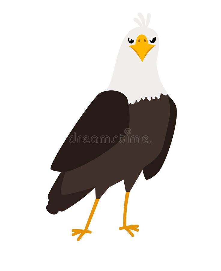 Symbol för Eagle tecknad filmfågel royaltyfri illustrationer