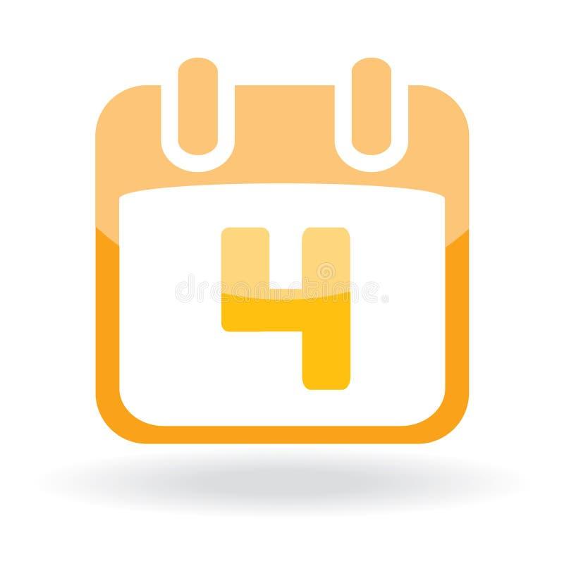 symbol för eater för kalenderdatum stock illustrationer